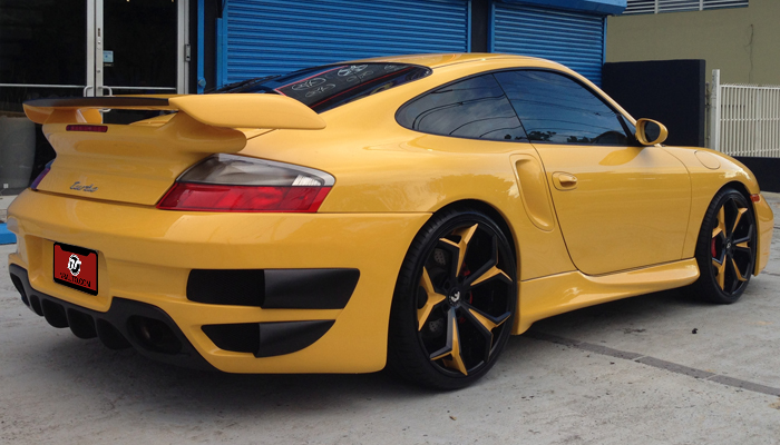 Porsche 996T with GT Body Kit & 997 Style GT2 Wing.