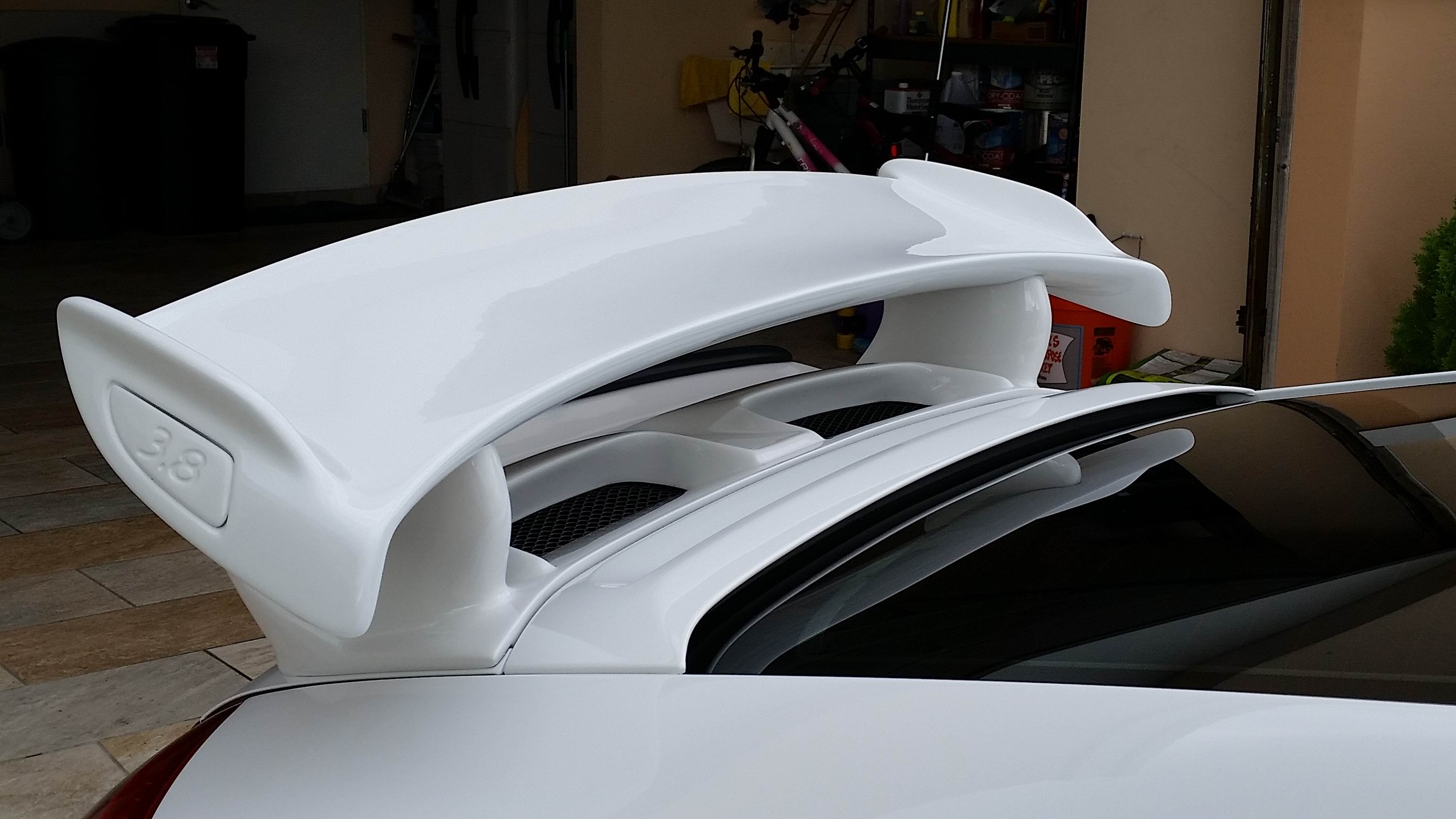 Close up of air intakes on our 997.2 GT3 Bolt On Wing.