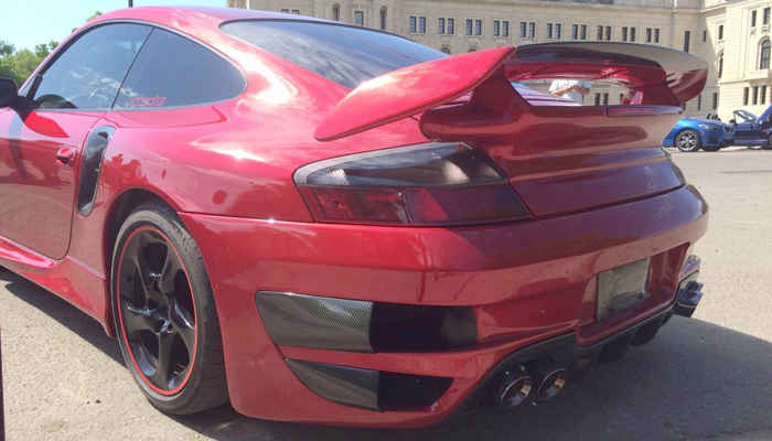 Porsche 996 Turbo with GT Rear Bumper and 997 GT2 Style Wing.