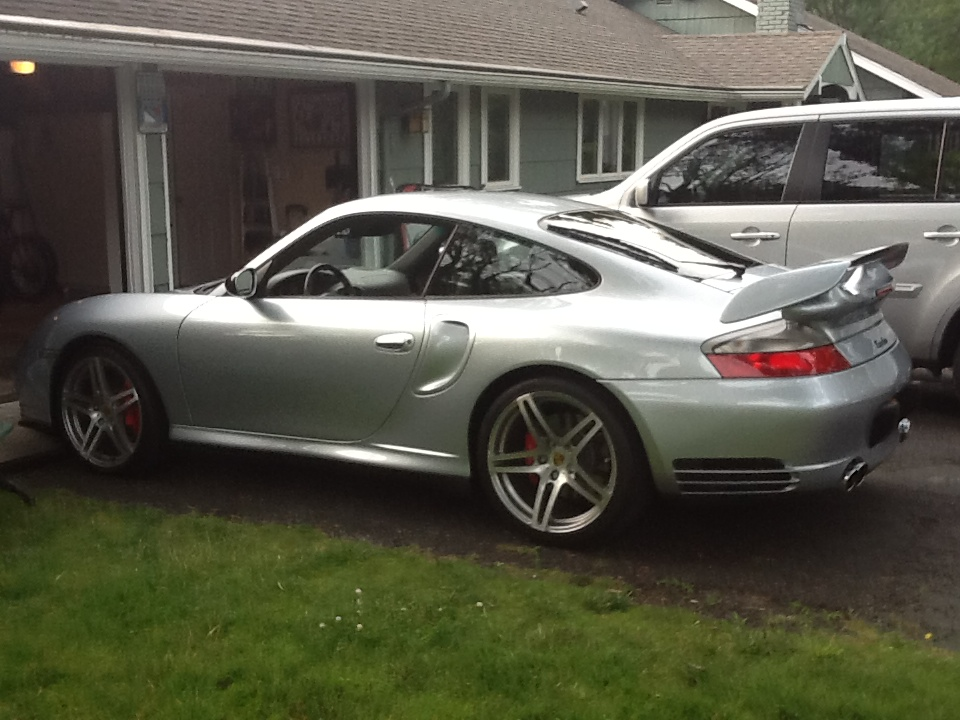 Porsche 997 with GT2 Bolt on Wing.
