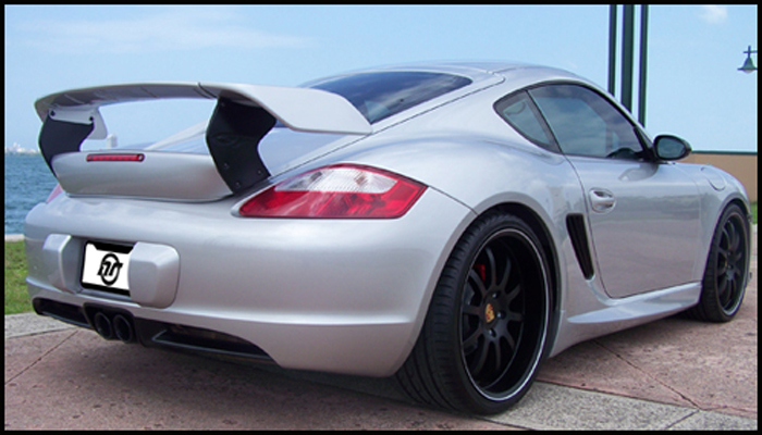 Porsche 987 Cayman with GT Body Kit & Wing.