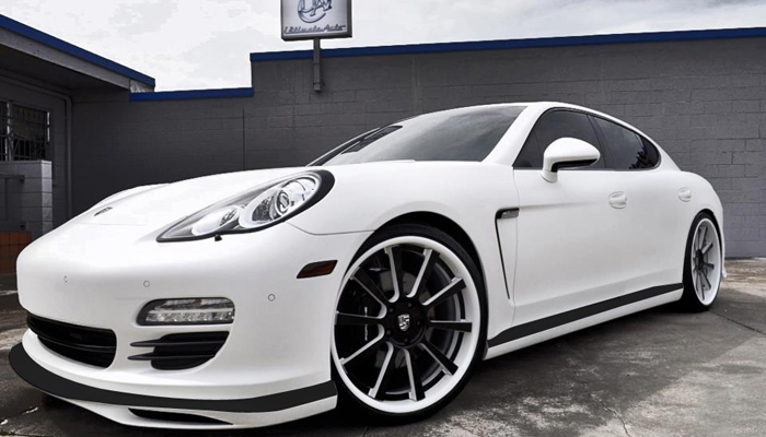 Porsche Panamera with Aero Body Kit.