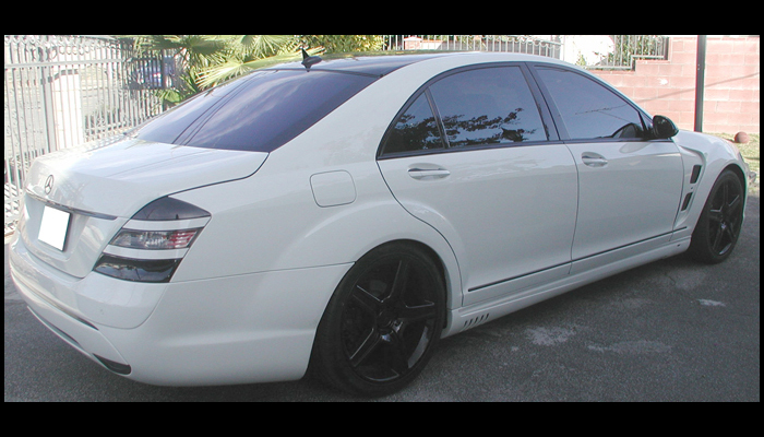 Mercedes S550 With L Style Body Kit.