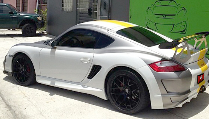 Porsche 987 with GT Body Kit.
