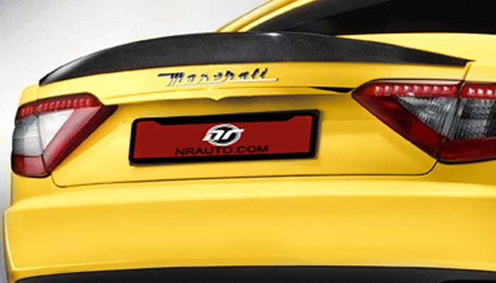 Maserati GranTurismo Carbon Fiber Trunk Spoiler.