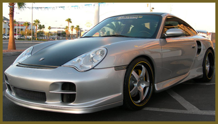 Porsche 996 Turbo with GT2 Front Bumper.
