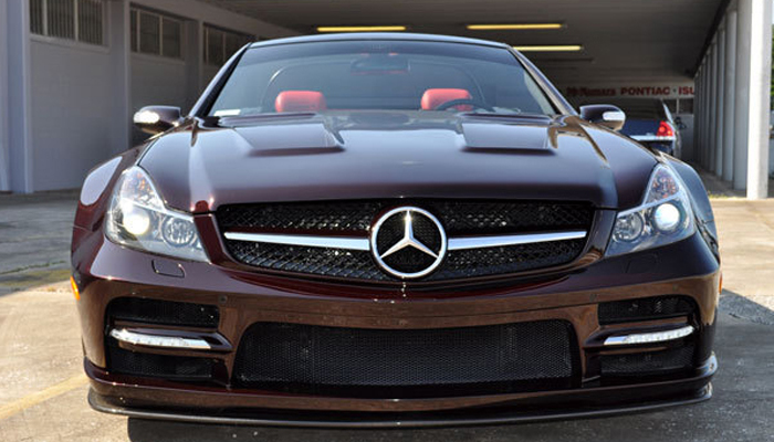 Mercedes SL500 with our Face Lift Headlights and BlackSeries Wide Body Kit.