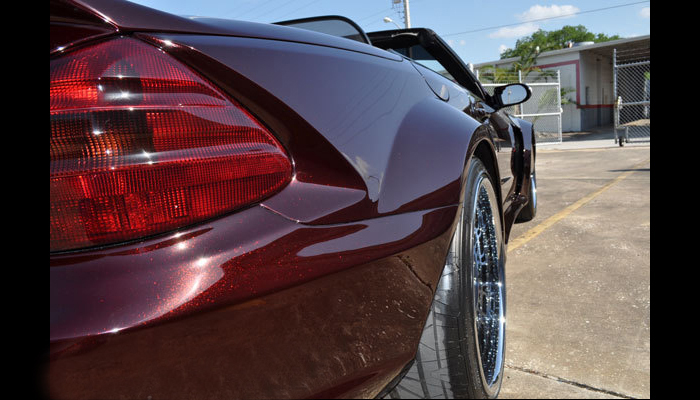 Mercedes SL500 with our BlackSeries Wide Body Kit.