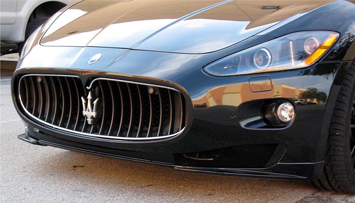 Maserati GranTurismo with our Aero Front Spoiler.