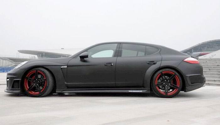 Porsche Panamera Luma Style Wide Body Kit Side View.