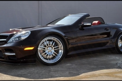 2007 Mercedes SL 500 with Facelift Head Lights and Black Series Body Kit.