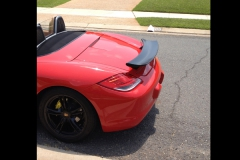 Porsche 987 Boxster with Cayman R Wing.